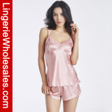 """Jogo de seda da roupa interior da roupa de noite dos pijamas do estilingue da emulation da Rebocar-Parte das mulheres """"sexy"""""""