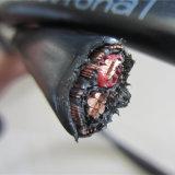 Câble blindé concentrique plat de fil de cuivre de conducteur de PVC de Cu de noyau du câble 2