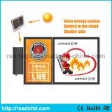 Marco de la caja de luz de publicidad solar al aire libre