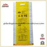 Sac tissé par pp de plastique du riz, engrais avec la qualité