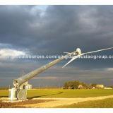 Torre das energias eólicas da produção