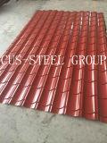 색깔에 의하여 직류 전기를 통하는 철 격판덮개 또는 Prepainted 직류 전기를 통하는 장을 지붕을 달기