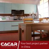 Gabinete de cozinha verde da laca do verniz de Toving do estilo da forma do vale (CA09-08)