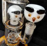 Borosilicat-rauchendes Wasser-Rohr mit Hundeaussehen-Filterglocke-Entwurf