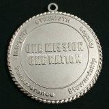 Medallas de plata brumosas de encargo del metal de la escuela del color con diseño doble de los lados