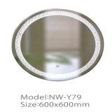 Specchio decorativo rotondo di alta qualità dell'argento competitivo LED dell'indicatore luminoso