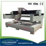 Máquina de gravura do CNC feita em Alemanha, pedra resistente do corpo 3D que cinzela routeres do CNC para a venda