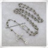 De plastic Godsdienstige Rozentuin parelt Halsband met Kruis (iO-Cr128)