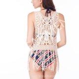 ふさ(BL-272)が付いている夏の女性のレースのかぎ針編みのブラウス