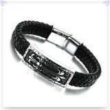 De Armband van het Leer van de Juwelen van het Leer van de Armband van het roestvrij staal (LB049)