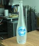 Botella clara agua mineral de cristal / botella de cristal de agua