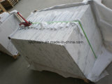 Tuiles blanches de marbre blanches de la Chine Guangxi pour le mur et le plancher