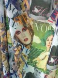 Polyester Digital Printing Fabric pour Fashion, Scarf etc. (8032F)