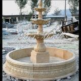 Fontana del marmo dell'oro del deserto per la decorazione domestica Mf-1032
