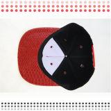 Sombrero de béisbol de cuero de encargo del cuero del casquillo del Snapback del sombrero