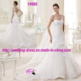 Платье венчания lhbim Organza Одн-Плеча с смычком