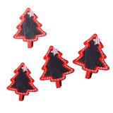 Conjunto del clip de madera 4asst de Navidad 6 con el árbol del corazón de la pizarra de la estrella en las existencias para la decoración de la Navidad