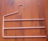 Quatre couches d'extrémité ouverte de pantalon d'économie de l'espace de cintre halète le cintre collectable