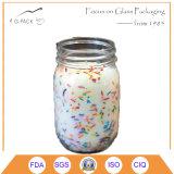 Jarras de vidrio transparente de Maon con tapas para el titular de la vela Propósito