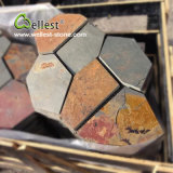 LandscapeのためのSt015 RusticブラウンSlate Crazy Meshed Paving Stone