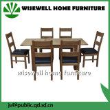 Conjunto de móveis de sala de jantar em madeira de carvalho com 4 cadeiras (W-DF-9051)