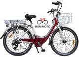 Vélo de la ville E avec l'armature en acier et la batterie au lithium