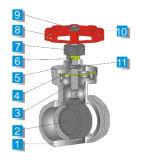 Extremidade de linha da válvula de porta 200wog da alta qualidade