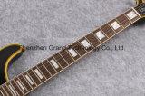 Guitare faite sur commande de P.R. de matériel d'or de cornière de double pendule