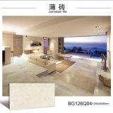 Telha vitrificada Polished lustrosa branca Ivory da parede da telha de assoalho da laje da porcelana finamente