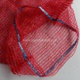 Preiswerte rote Farben-Zwiebel PET Raschel Ineinander greifen-Beutel für Verkauf