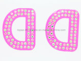 Etiquetas engomadas autas-adhesivo de la carta del alfabeto de la etiqueta engomada de la carta del diamante cristalino del arreglo de Permant (TS-524)