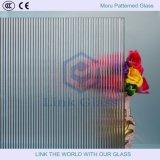 510mm Aangemaakt Riet/Moru Gevormd Glas voor de Douche/de Verdeling van de Badkamers