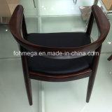Silla clásica de Kennedy de la nuez del asiento del vinilo de madera sólida