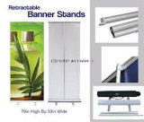 """Stand escamotable 33 """" X 79 """" de drapeau de salon en aluminium"""