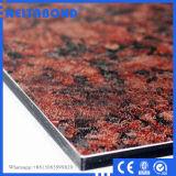 materiais compostos de alumínio de pedra exteriores de painel de parede de 4mm (ACM)