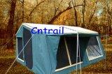 7ftの取り外し可能な別館Ctt6001が付いている速い開いた14ozキャンバスのキャンピングカートレーラーのテント
