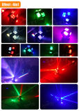 Faisceau chaud lumineux superbe de roues des yeux RGBW de DEL 8