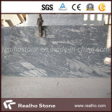 Chinesische Juparana weiße Granit-Fliese mit grauen Adern