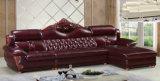 Nuevo sofá con el marco de madera, sofá antiguo (A38) del cuero del diseño