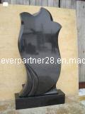 유럽식 Polished 중국 까만 화강암 기념물 묘석