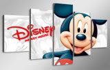 HD imprimió la historieta Mickey Mouse que pintaba la lona Mc-116 del cuadro del cartel de la impresión de la decoración del taller de impresión de la lona de arte de la pared