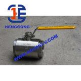 Vávula de bola flotante forjada cuerda de rosca de alta presión de la maneta API/DIN