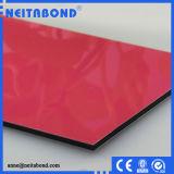 El panel compuesto plástico del aluminio del PE 3m m para el revestimiento de la pared interior