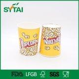 Kundenspezifischer Firmenzeichen-Entwurfs-biodegradierbares Papierpopcorn-Cup
