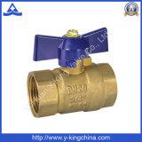 Latón DN20 Mujer de aguas residuales Válvulas con mango de aluminio (YD-1027)