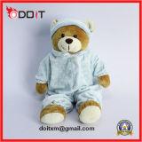 O luxuoso do brinquedo do urso da peluche dos pijamas encheu o brinquedo do miúdo do urso da peluche