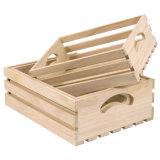 StorageおよびDisplayのための自然なWooden Tray