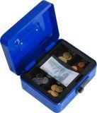 コードロックが付いている携帯用金属の銭箱