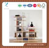 Mensola di visualizzazione di legno delle 2 file per la casa o le vendite al dettaglio