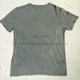 O t-shirt de lavagem da neutralização cinzenta do verão na malhas do esporte do homem veste Fw-8675